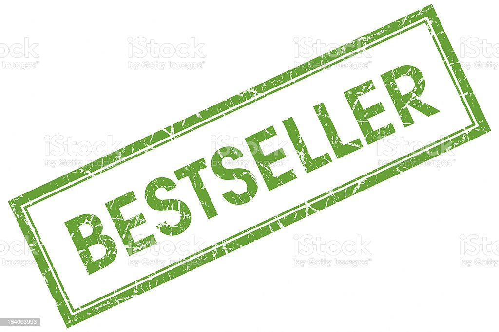 bestseller green square stamp royalty-free stock photo