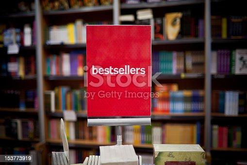 istock Bestsellers area in bookstore 153773919