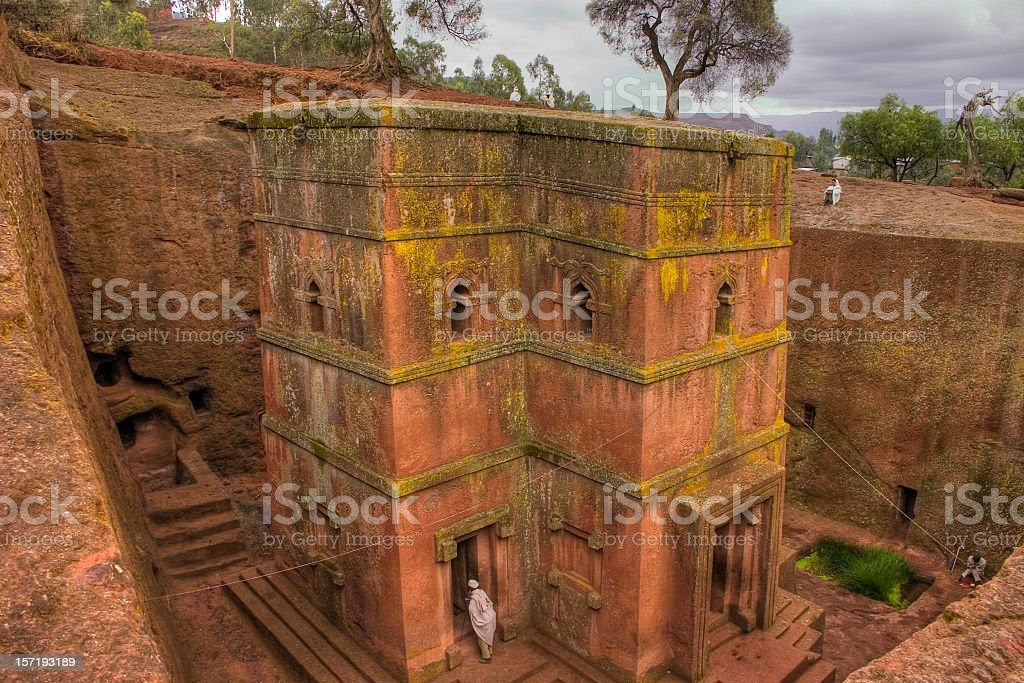 Bet Giorgis, Lalibela Ethiopia stock photo