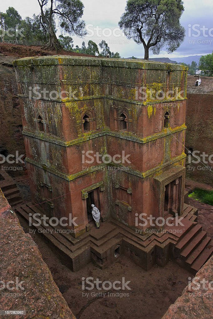 Bet Giorgis, Lalibela Ethiopia. st george rock hewn church stock photo