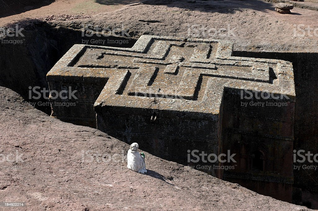 Bet Giyorgis, Lalibela, Ethiopia stock photo