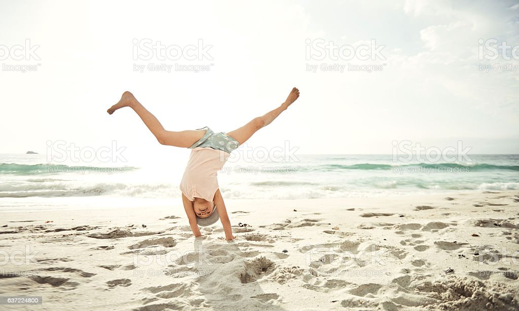Bet you can't do this! stock photo