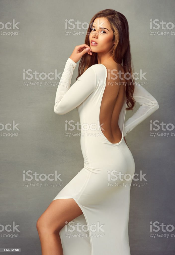 Bet you can't take your eyes off me stock photo