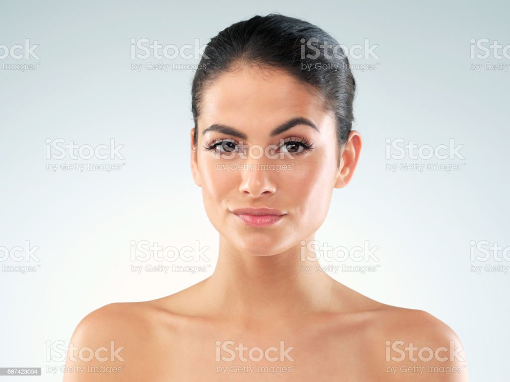 Bet you want to know my beauty secrets stock photo