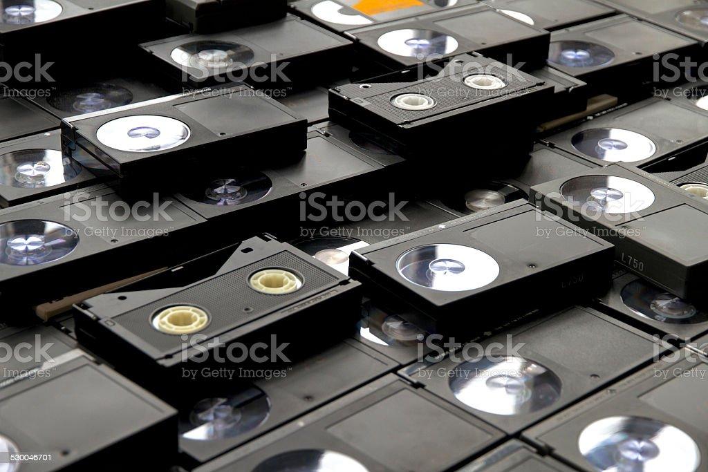 Betamax VCR tape cassettes stock photo