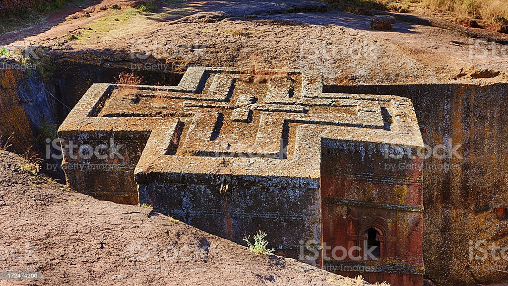 Bete Giyorgis - Church of Saint George, Lalibela royalty-free stock photo