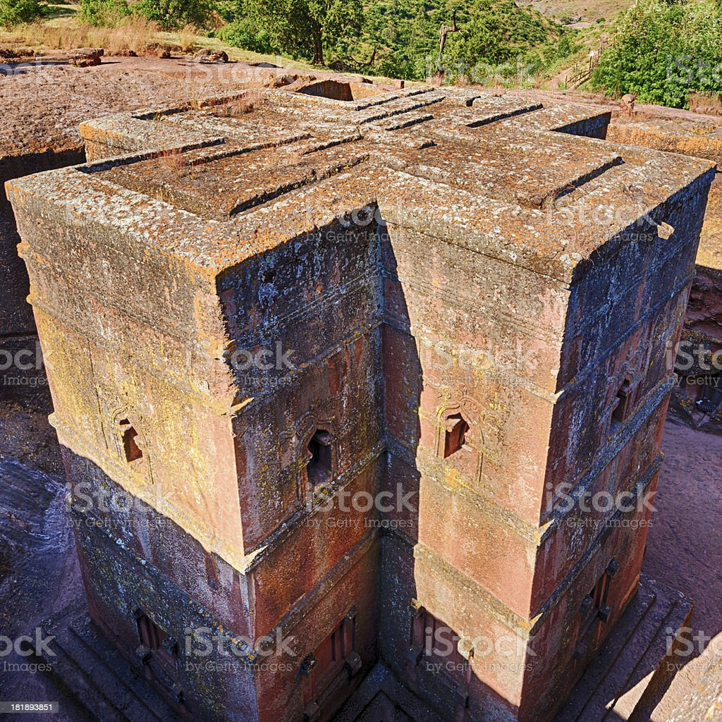 Bete Giyorgis - Church of Saint George, Lalibela stock photo