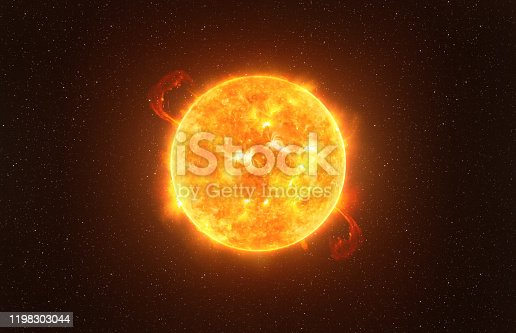 istock Betelgeuse star against starry sky artistic vision, elements of this image furnished by NASA 1198303044