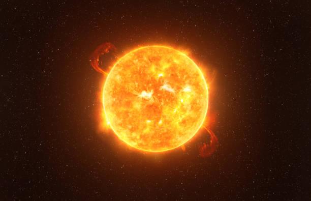 betelgeuse stjärna mot stjärnhimmel konstnärlig vision, delar av denna bild möblerad av nasa - sun bildbanksfoton och bilder