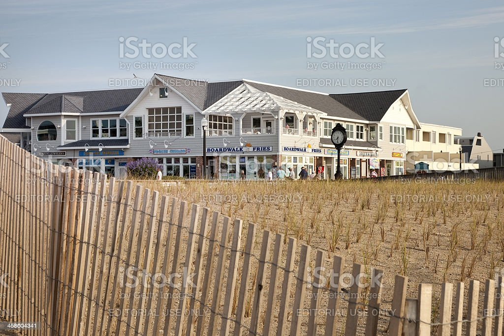 Bethany Beach Boardwalk stock photo