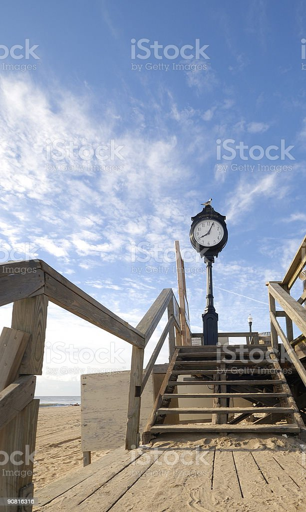 Bethany Beach Clock stock photo