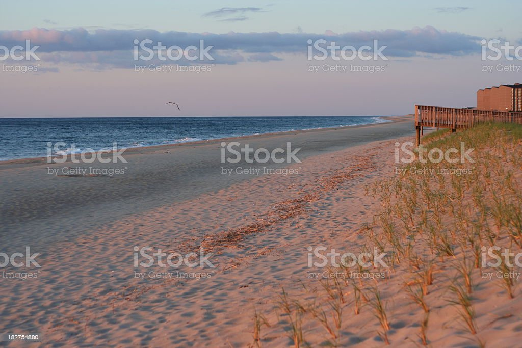 Bethany Beach in the Morning stock photo