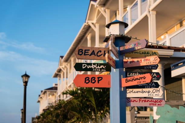 Bethany Beach Sign stock photo