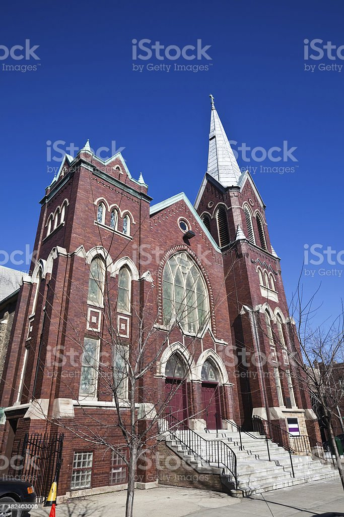 Bethel Lutheran Church, Chicago West Side. royalty-free stock photo
