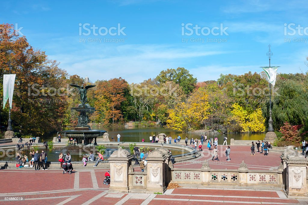 Bethesda Fountain and Terrace stock photo