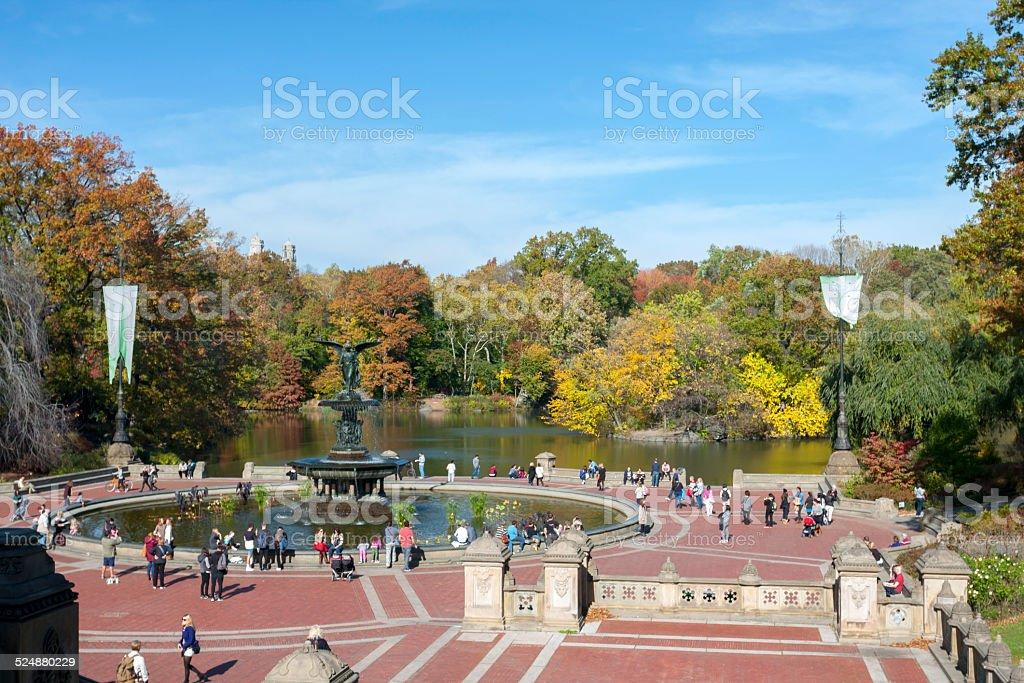 Bethesda Fountain and Terrace stock photo