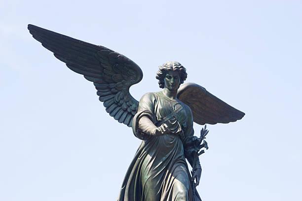 Bethesda Fountain Angel, Central Park, NY stock photo