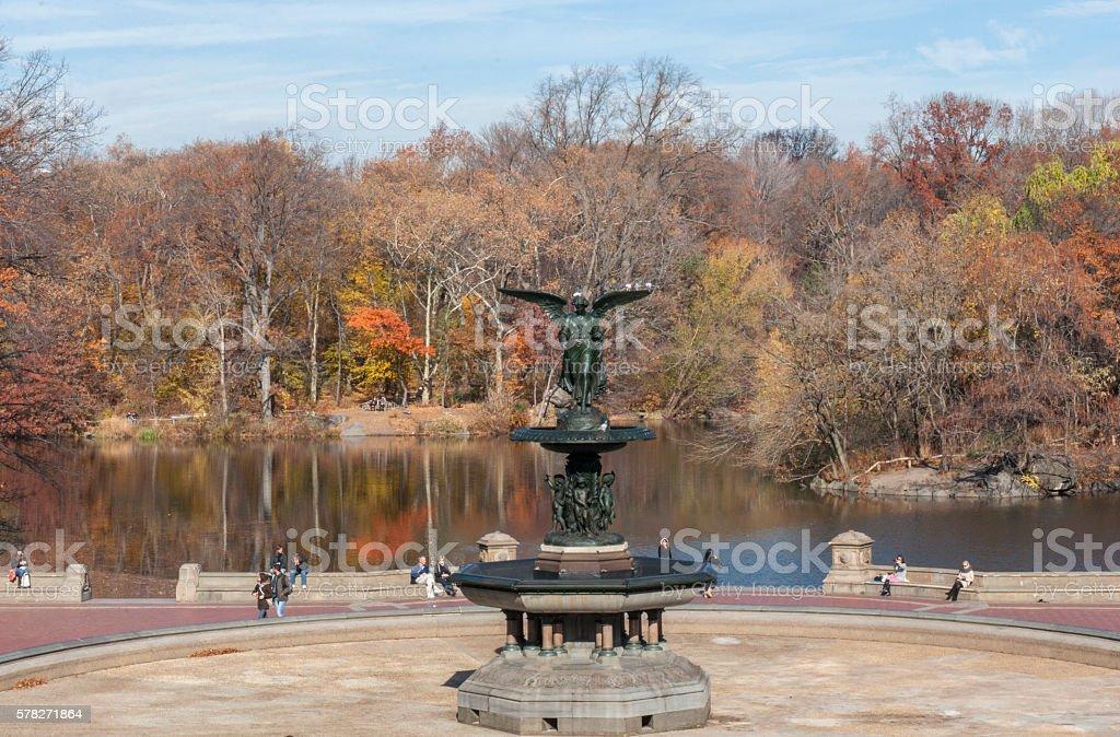 Bethesda Fountain at Central Park, New York City stock photo