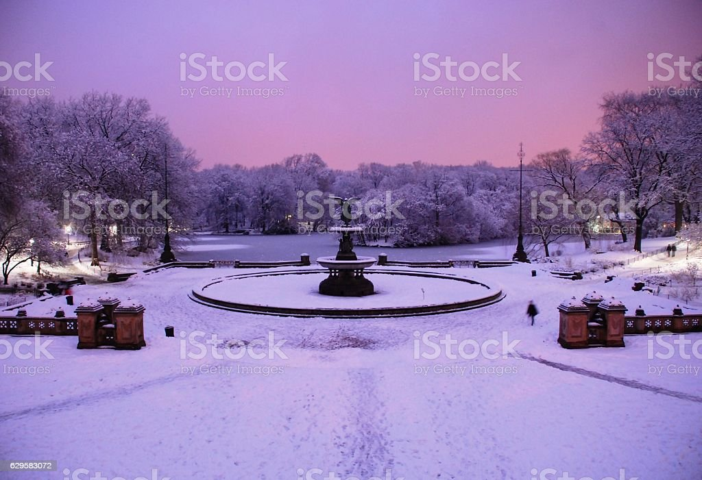 Bethesda Fountain at Central Park stock photo