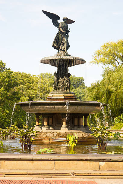Bethesda Fountain, Central Park, New York stock photo