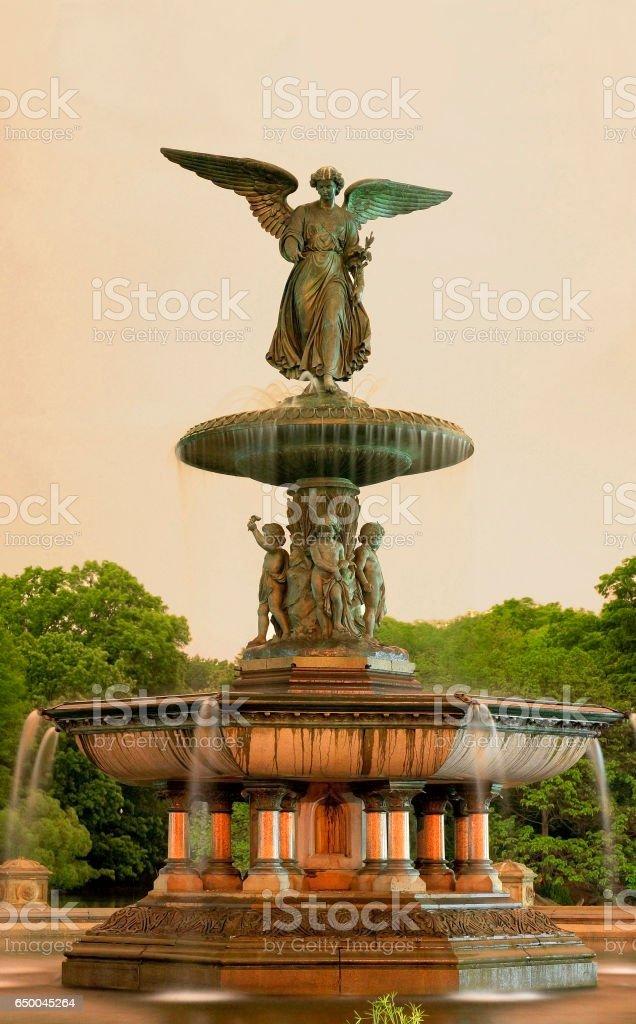 Bethesda fountain Central Park NY stock photo
