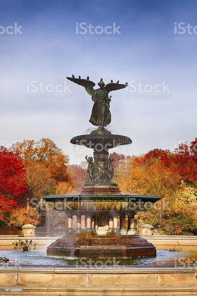 Bethesda Fountain, Central Park stock photo
