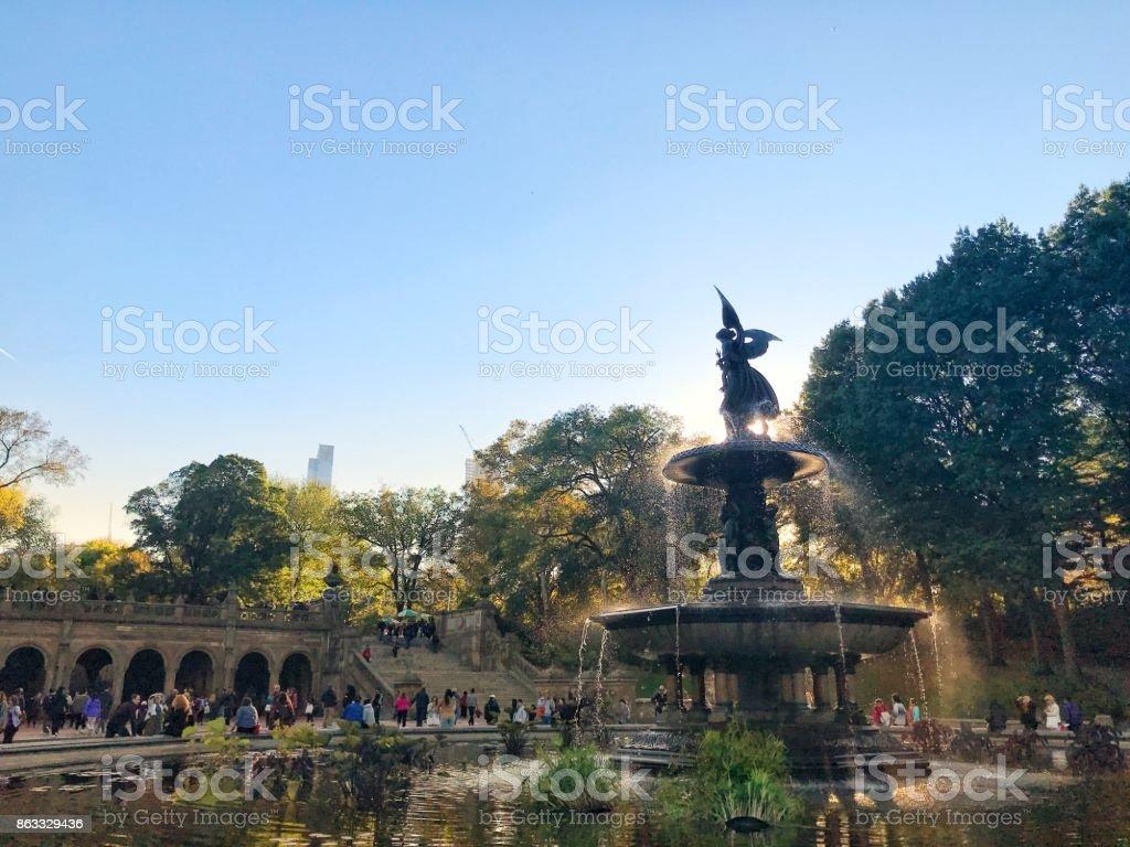 Bethesda Fountain Central Park stock photo