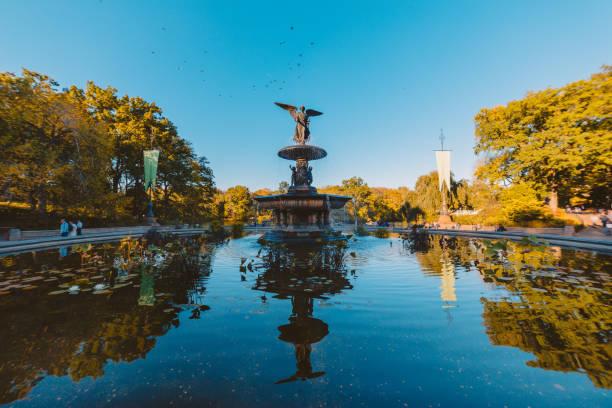 Bethesda Fountain - Central Park stock photo