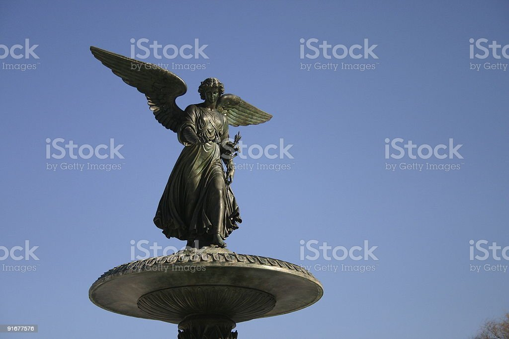 Bethesda fountain close-up royalty-free stock photo