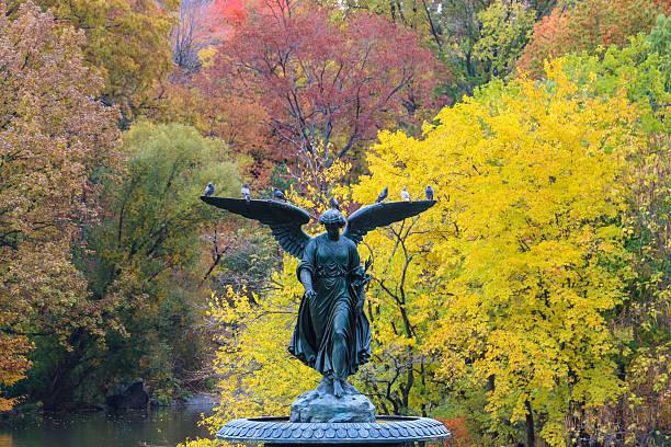 Bethesda Fountain in Central Park, New York City stock photo