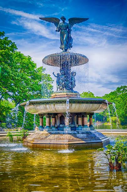 Bethesda Fountain in Central Park, New York stock photo