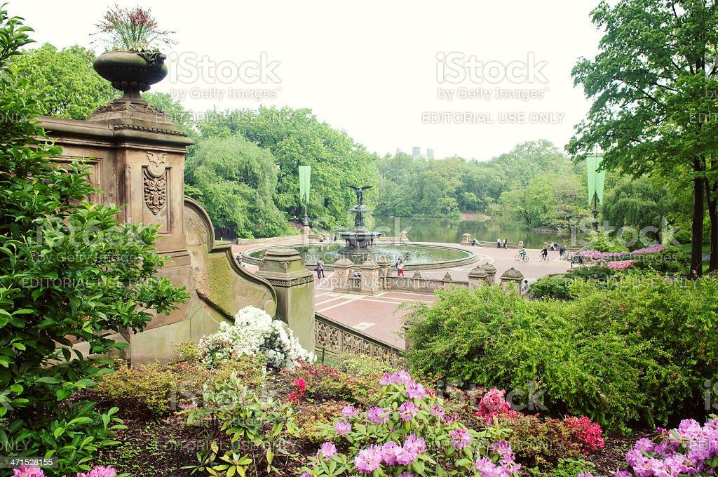 Bethesda Fountain in New York stock photo