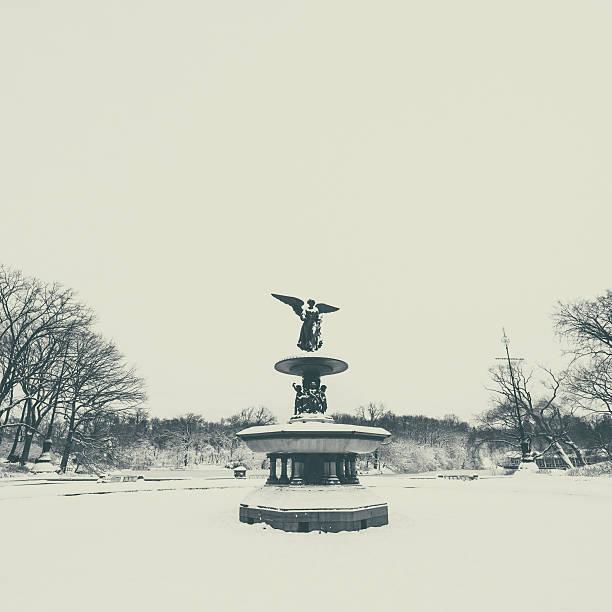 Bethesda Fountain New York stock photo