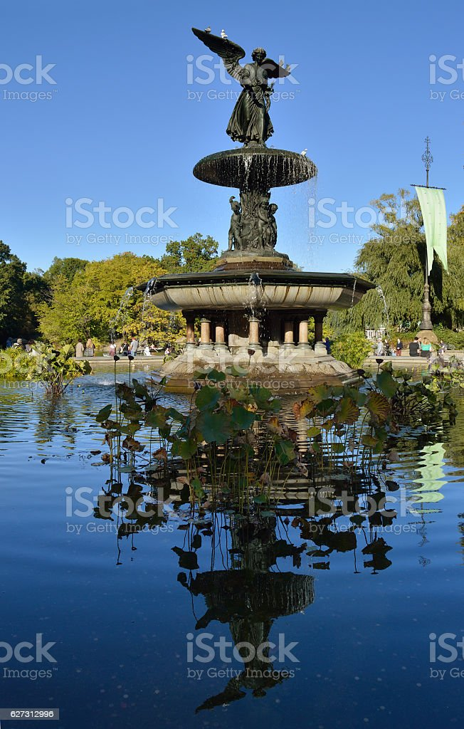 Bethesda Fountain. stock photo