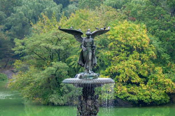 Bethesda Fountain stock photo