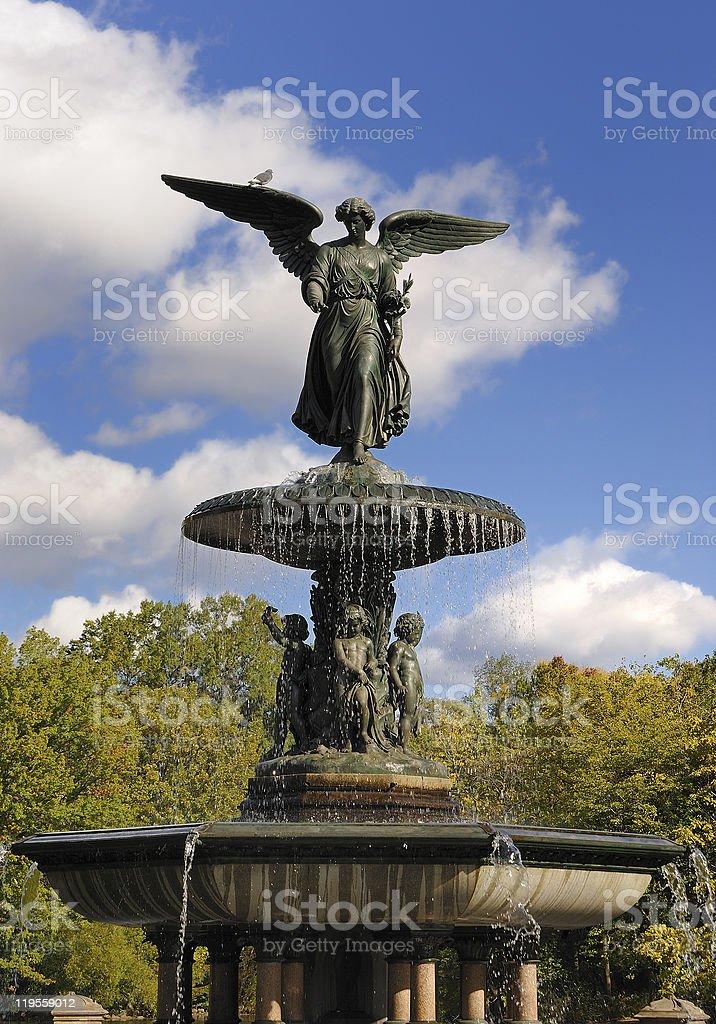 Bethesda Terrace and Fountain stock photo