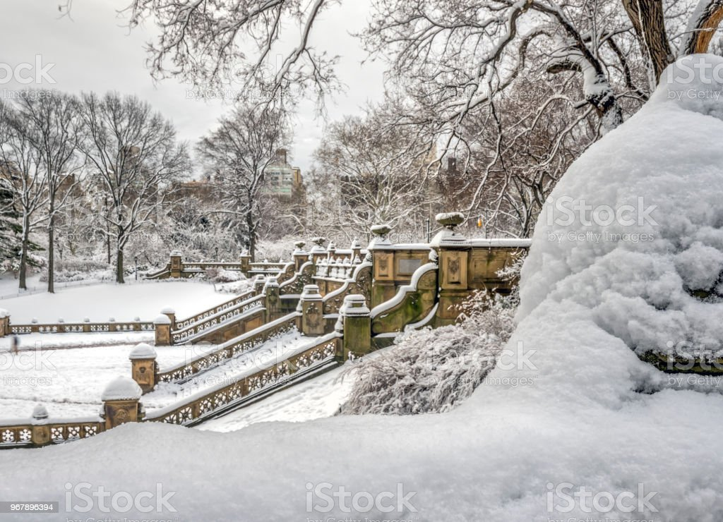Bethesda Terrace And Fountain Stock Photo & More Pictures of
