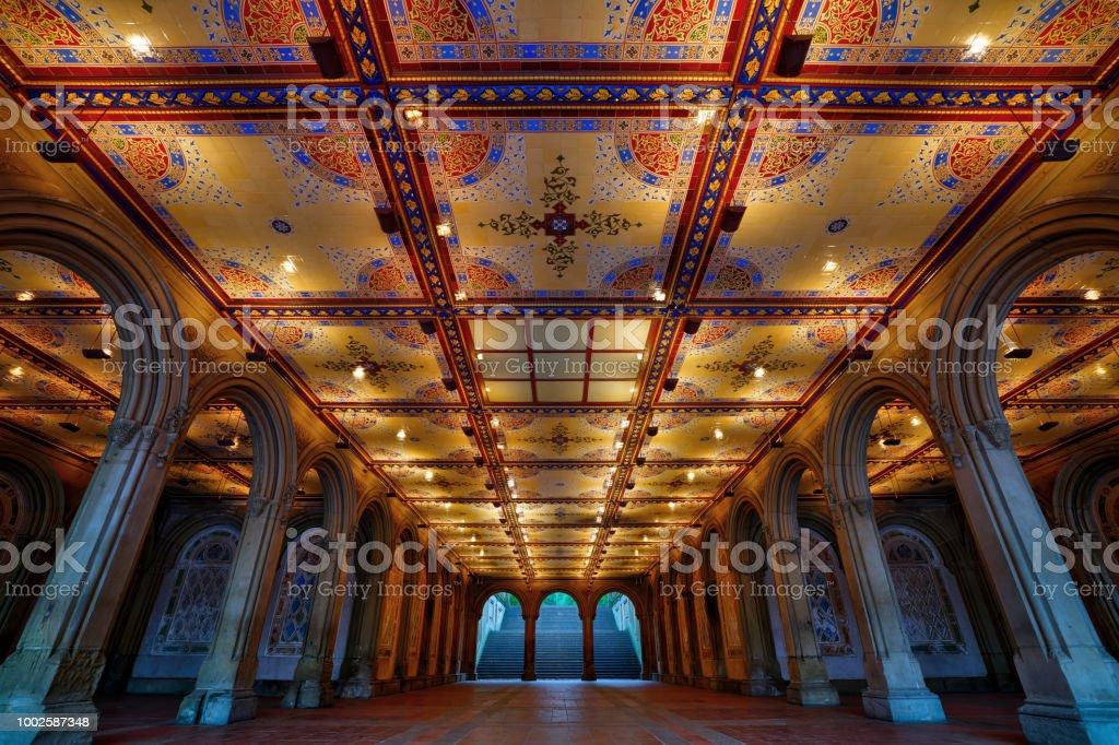 Bethesda Terrace Arcade stock photo