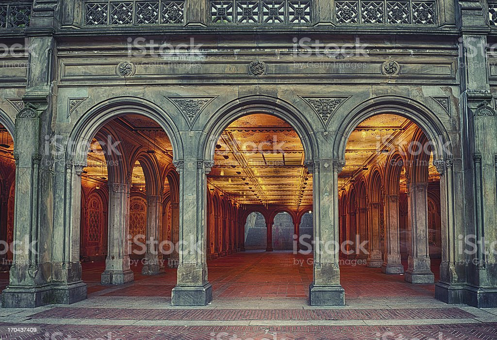 Bethesda Terrace in Central Park - HDR stock photo