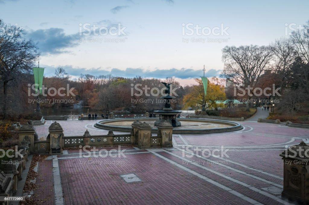 Bethesda Terrace in Central Park - New York, USA stock photo