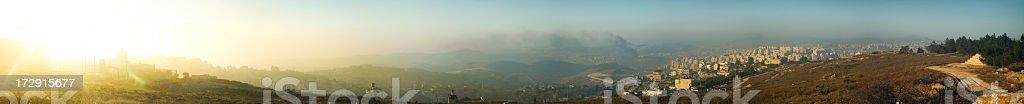 Bethlehem Panoramic View stock photo