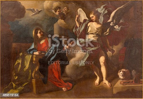 istock Bethlehem - The Annunciation paint in St. Ann church 489519164