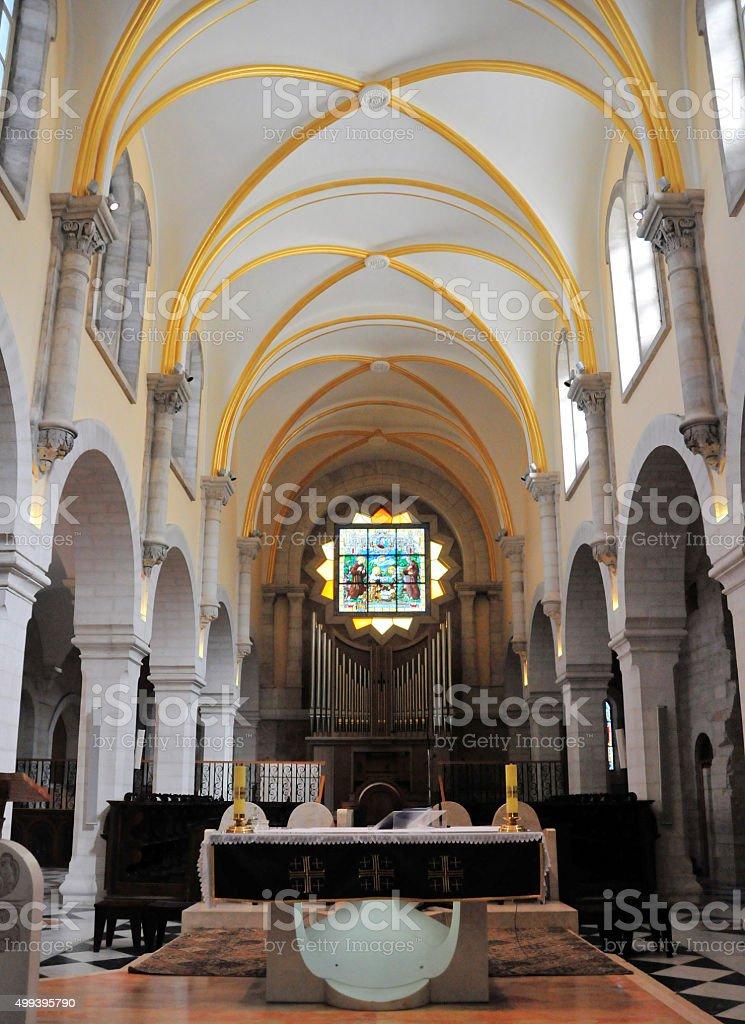 Bethlehem, West Bank: St. Catherine's church stock photo