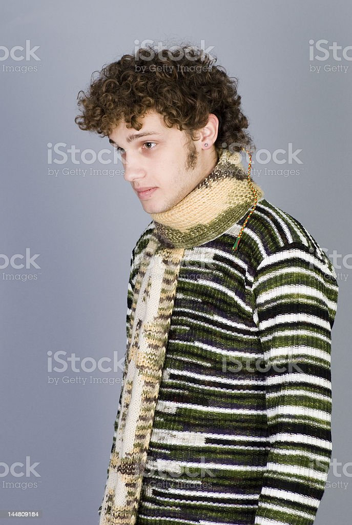 Betiful young man royalty-free stock photo
