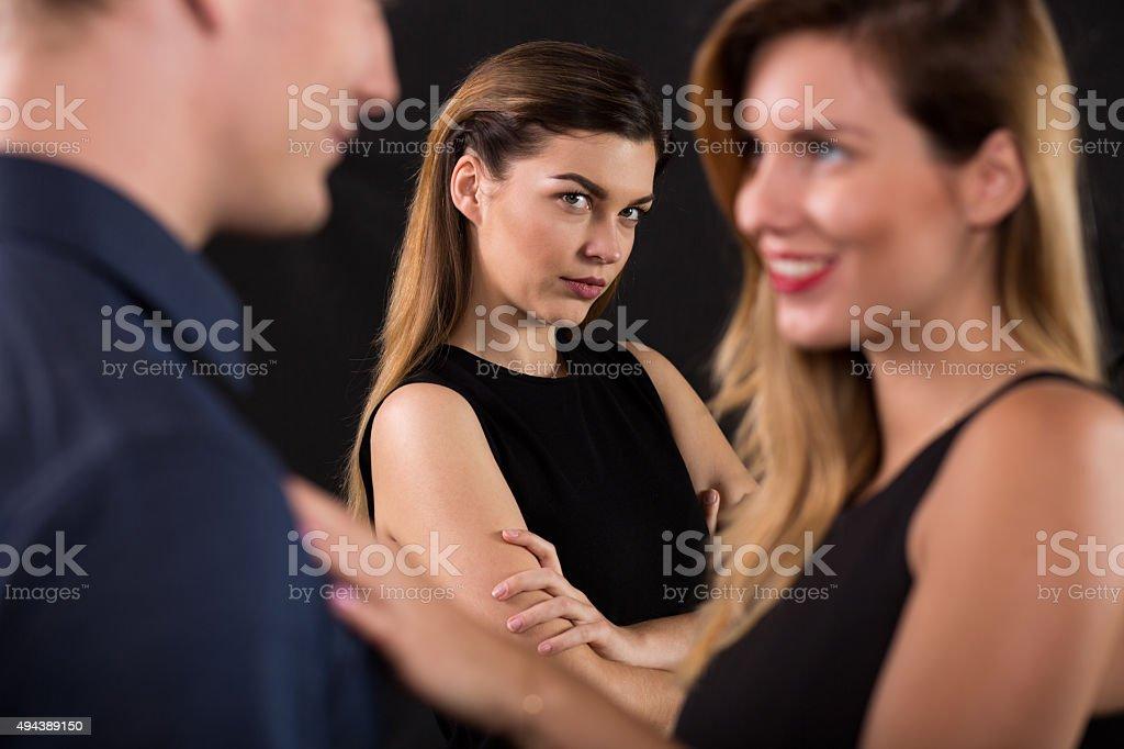 Betrayal concept stock photo