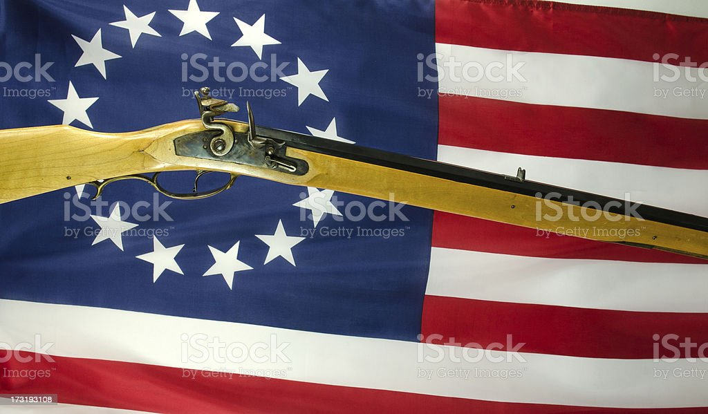Betsy Ross American Flag royalty-free stock photo