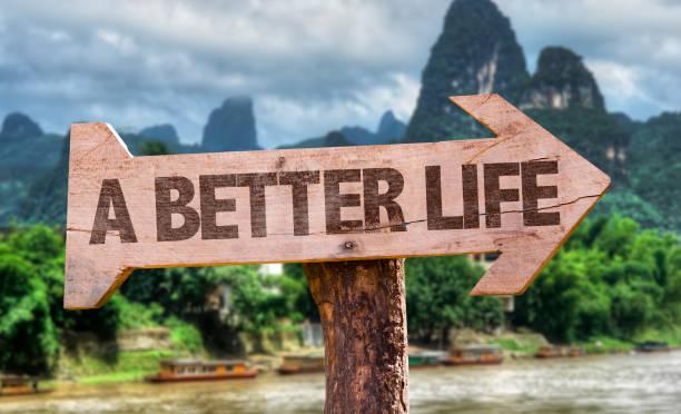 ein besseres leben - motivationsfitness zitate stock-fotos und bilder