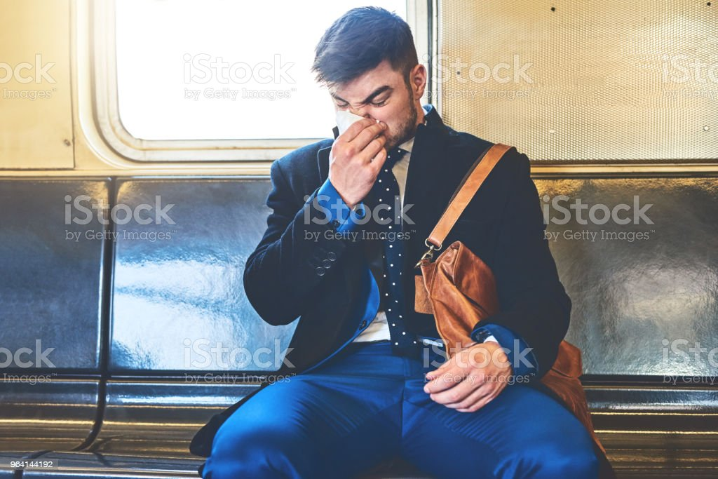 I better not be getting sick stock photo