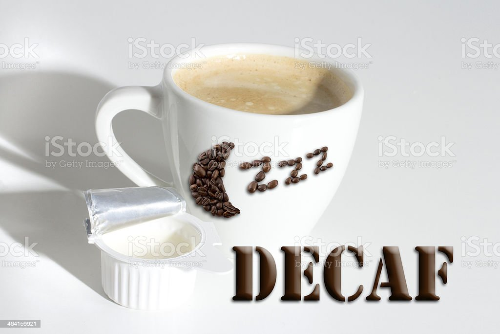 Better sleep with Decaf stock photo