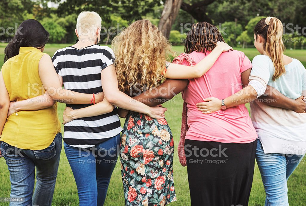 Better Together Casual Female Femininity Lady Concept stock photo